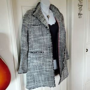 DAMO Orange Label Tweed Overcoat NWT $495